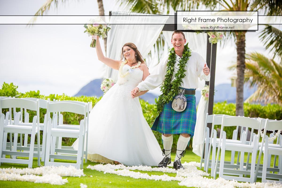 Scottish Wedding in Hawaii – Paradise Cove Luau – Imu Gardens ...