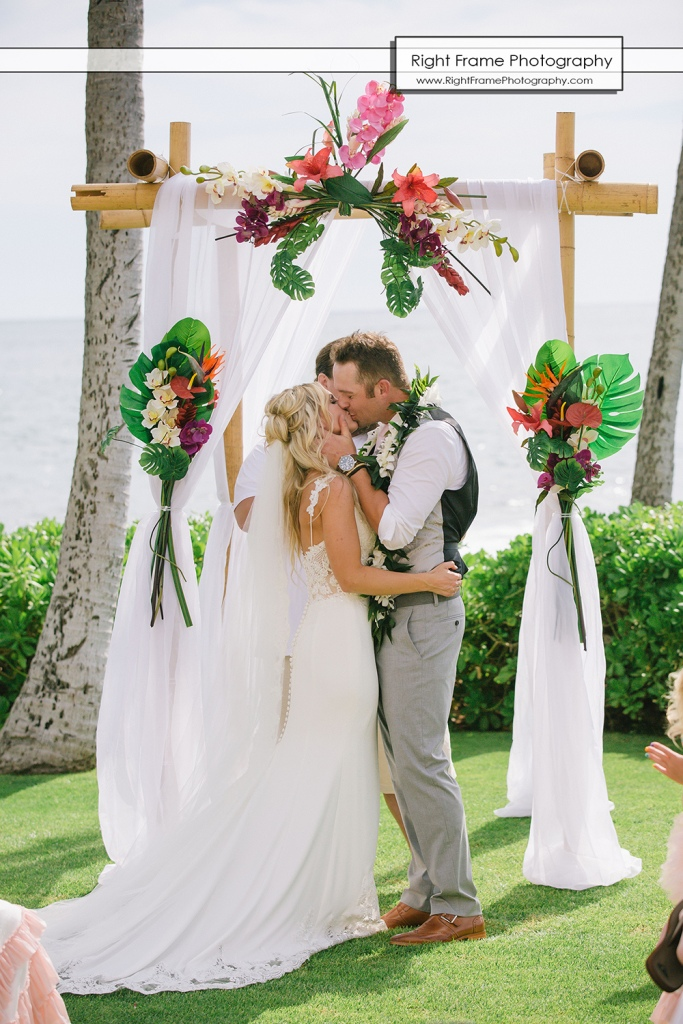 Ht Just Married At The Paradise Cove Luau Venue Wedding Location